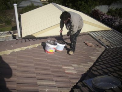 roof tile repair, pointing and bedding by Garry