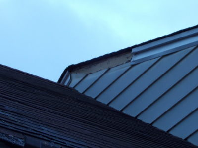 Example of a roof leak repair project