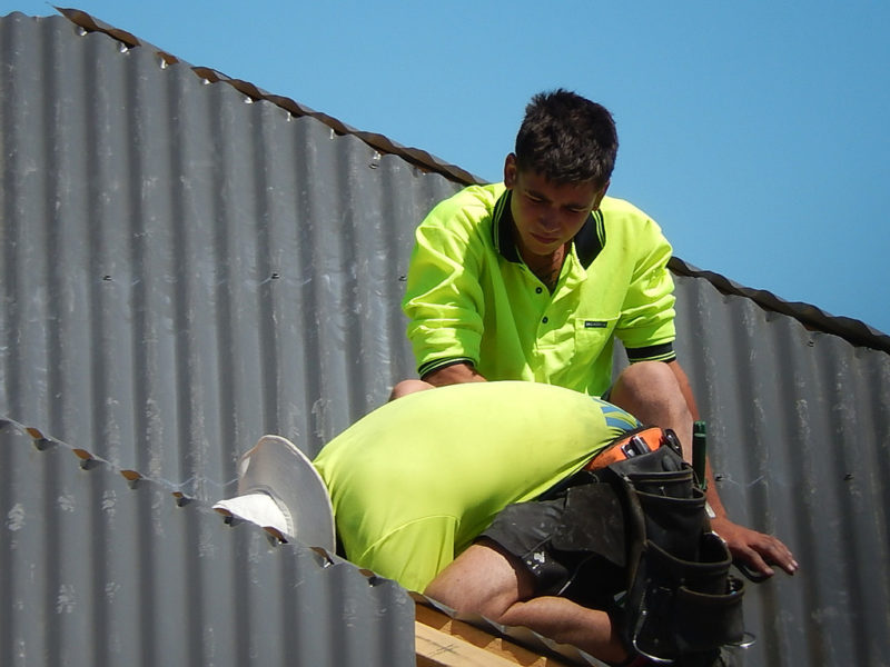 Sydney Wide Roofing Co Team on a roof leak repair project in the Sutherland Shire